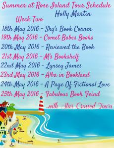 Tour Schedule wk2