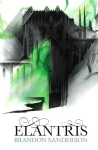 Elantris Brandon Sanderson book cover UK edition
