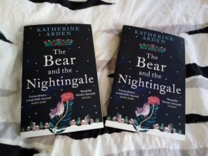 The Bear and the Nightingale by Katherine Arden photo two copies UK edition