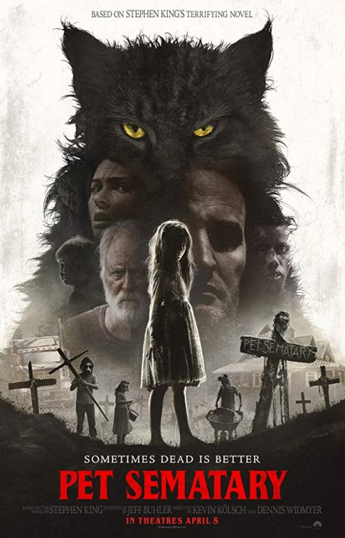 Pet Sematary 2019 movie cover horror stephen king