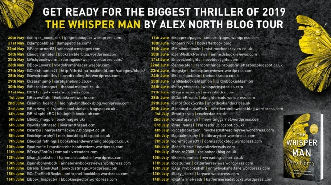 the whisper man by alex North tour banner
