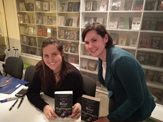 Katherine Arden and me on book signing in Croatia